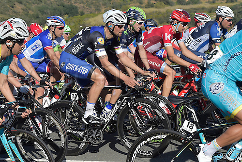 20.02.2016. Alportel, Portugal.  BOONEN Tom (BEL) Rider of ETIXX - QUICK STEP in action during stage 4 of the 42nd Tour of Algarve cycling race with start in S. Brss de Alportel and finish in Tavira on February 20, 2016 in Tavira, Portugal.