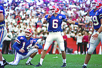 Judd Davis (6) field goal, University of Florida Gators defeat the University of South Carolina Gamecocks 48-17 at Ben Hill Griffin Stadium, Florida Field, Gainseville, Florida, November 12, 1994 . (Photo by Brian Cleary/www.bcpix.com)