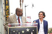 HOLLYWOOD, LOS ANGELES, CA, USA - APRIL 02: Forest Whitaker, Orlando Bloom at Orlando Bloom's star ceremony on the Hollywood Walk of Fame (2,521st star) in the category of Motion Pictures held at 6927 Hollywood Boulevard (next to TCL Chinese Theatre and Madame Tussauds Hollywood) on April 2, 2014 in Hollywood, Los Angeles, California, United States. (Photo by Celebrity Monitor)