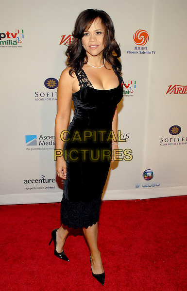 ROSIE PEREZ.34th International Emmy Awards Gala at the New York Hilton, New York, NY, USA..November 20th, 2006.full length black dress.CAP/ADM/PH.©Paul Hawthorne/AdMedia/Capital Pictures *** Local Caption ***
