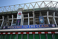 A general view of The Clash signage. The Clash, Aviva Premiership match, between Bath Rugby and Leicester Tigers on April 8, 2017 at Twickenham Stadium in London, England. Photo by: Rogan Thomson / JMP for Onside Images