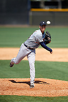 Detroit Tigers pitcher Trey Teakell (56) during a Minor League Spring Training game against the New York Yankees on March 21, 2018 at the New York Yankees Minor League Complex in Tampa, Florida.  (Mike Janes/Four Seam Images)