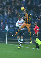 Hull City's Jackson Irvine battles with Preston North End's Paul Gallagher<br /> <br /> Photographer Stephen White/CameraSport<br /> <br /> The EFL Sky Bet Championship - Preston North End v Hull City - Wednesday 26th December 2018 - Deepdale Stadium - Preston<br /> <br /> World Copyright &copy; 2018 CameraSport. All rights reserved. 43 Linden Ave. Countesthorpe. Leicester. England. LE8 5PG - Tel: +44 (0) 116 277 4147 - admin@camerasport.com - www.camerasport.com