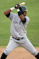 April 15, 2009:  Wady Rufino of the Tampa Yankees, Florida State League Class-A affiliate of the New York Yankees, during a game at Space Coast Stadium in Viera, FL.  Photo by:  Mike Janes/Four Seam Images