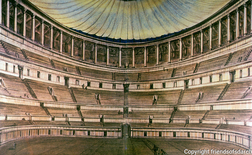 Italy: Rome--The Coloseum, Interior Reconstruction. Photo '84. Reference only.