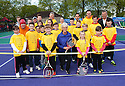Judy Murray joins kids and coaches to launch Free Tennis Lessons at Zetland Park.