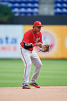 Washington Nationals Gilbert Lara (10) during a Florida Instructional League game against the Miami Marlins on September 26, 2018 at the Marlins Park in Miami, Florida.  (Mike Janes/Four Seam Images)
