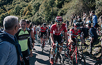 Tim Wellens (BEL/Lotto-Soudal) & Nicholas Roche (IRE/BMC) side by side up the infamous Muro di Sormano (avg 17%/max 25%)<br /> <br /> Il Lombardia 2017<br /> Bergamo to Como (ITA) 247km