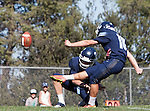 Palos Verdes, CA 09/24/16 - Joey Merkin (Chadwick #18) in action during the non-conference CIF 8-Man Football  game between Rolling Hills Prep and Chadwick at Chadwick.