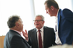 Germany, Berlin, 2018/05/28<br /> <br /> Verleihung des Scopus Award an Henryk M. Broder am 28/5/2018. V.l.: Jeremy Issacharoff, Joachim Gauck, Matthias Döpfner. (Photo by Gregor Zielke)