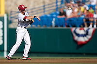 South Carolina 2B Scott Wingo in Game 14 of the NCAA Division One Men's College World Series on June 26th, 2010 at Johnny Rosenblatt Stadium in Omaha, Nebraska.  (Photo by Andrew Woolley / Four Seam Images)