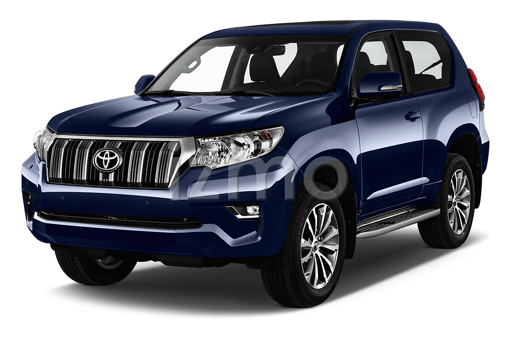 2018 Toyota Land-Cruiser-150 Style 3 Door SUV Angular Front stock photos of front three quarter view