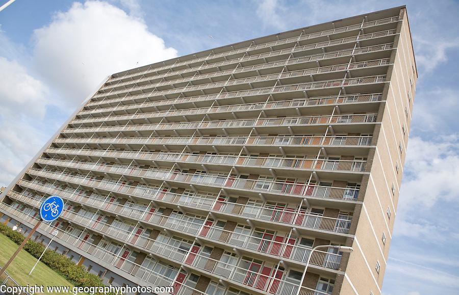 Modern apartment housing, Scheveningen Holland