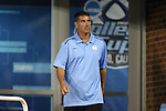 29 August 2014: UNC head coach Carlos Somoano. The University of North Carolina Tar Heels hosted the University of California Bears at Fetzer Field in Chapel Hill, NC in a 2014 NCAA Division I Men's Soccer match. North Carolina won the game 3-1.