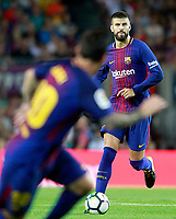 FC Barcelona's Gerard Pique (r) and Leo Messi during Joan Gamper Trophy. August 7,2017. (ALTERPHOTOS/Acero) /NortePhoto.com