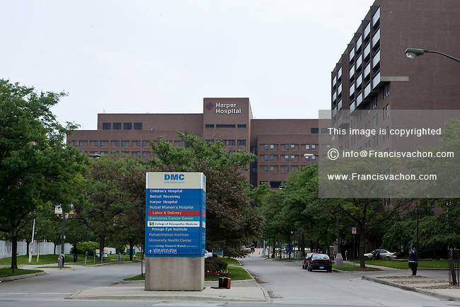 The Harper Hospital of Detroit Medical Center is seen in Detroit (Mi) Sunday June 9, 2013.