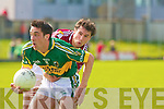 Kerry's Anthony Maher and Galway's Damien Burke.