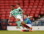 25.04.2019 Celtic v Rangers youth cup final: Karamoko Dembele fouled by James Maxwell