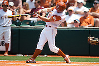 Texas Longhorns outfielder Colin Shaw #4 swings during the NCAA baseball game against the Texas A&M Aggies on April 29, 2012 at UFCU Disch-Falk Field in Austin, Texas. The Longhorns beat the Aggies 2-1 in the last ever regular season game scheduled for the long time rivals. (Andrew Woolley / Four Seam Images)