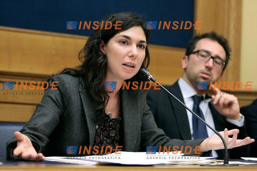Giulia Sarti M5S<br /> Roma 05-02-2014 Sala Stampa Camera. Conferenza stampa del Movimento 5 Stelle.<br /> Press conference of 5 Stars Movement<br /> Photo Samantha Zucchi Insidefoto