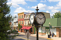 Town Clock, Main Street, Historic Mount Holly, New Jersey