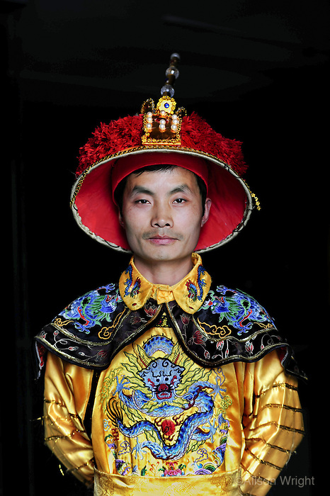 Shenyang Imperial Palace. Constructed 1627-1635. Tourist dressed in traditional costume for photos, 2011