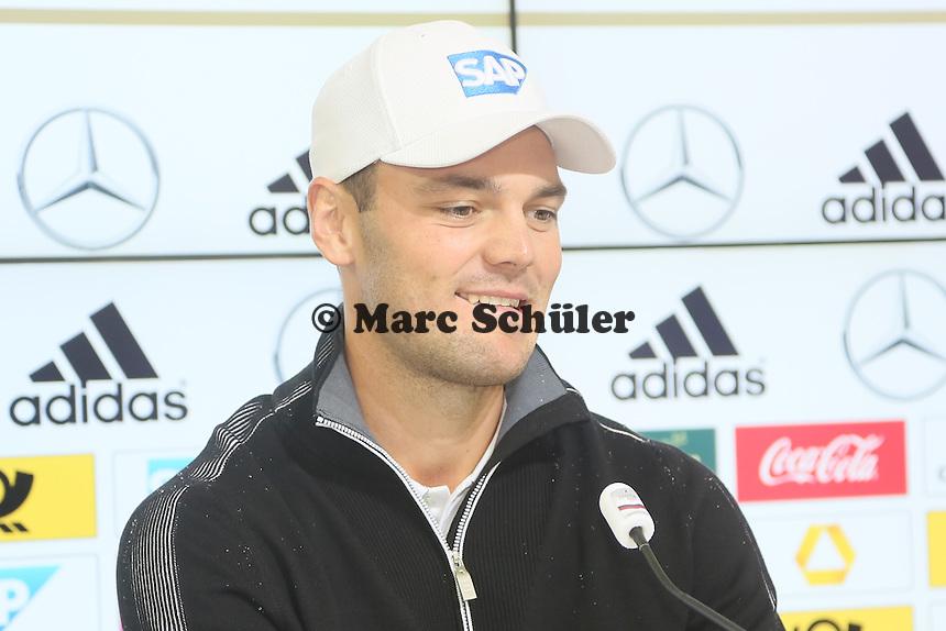 Martin Kaymer - Pressekonferenz der Deutschen Nationalmannschaft  zur WM-Vorbereitung in St. Martin