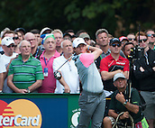 20.07.2014. Hoylake, England. The Open Golf Championship, Final Round. Rory MCILROY [NIR] tees off on his way to winning the tournament