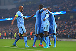 Yaya Toure of Manchester City celebrates scoring his sides first goal - Manchester City vs. CSKA Moscow - UEFA Champions League - Etihad Stadium - Manchester - 05/11/2014 Pic Philip Oldham/Sportimage
