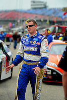 Apr 26, 2008; Talladega, AL, USA; NASCAR Sprint Cup Series driver Michael McDowell during qualifying for the Aarons 499 at Talladega Superspeedway. Mandatory Credit: Mark J. Rebilas-US PRESSWIRE