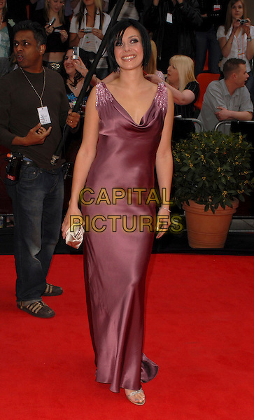 KYM MARSH.Arrivals at the Pioneer British Academy Television Awards 2006 at the Grosvenor House Hotel, London, UK..May 7th, 2006 .Ref: CAN.BAFTA TV.full length satin purple dress.www.capitalpictures.com.sales@capitalpictures.com.©Capital Pictures