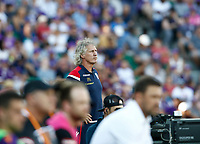 11th January 2020; HBF Park, Perth, Western Australia, Australia; A League Football, Perth Glory versus Adelaide United; Gertjan Verbeek head coach of Adelaide United watches play - Editorial Use