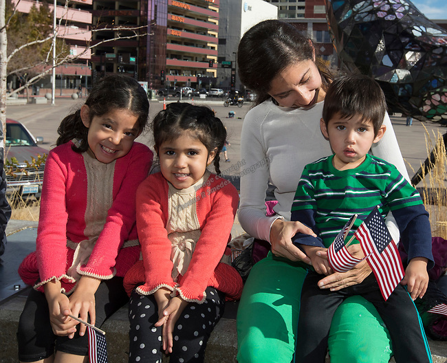 The Ruiz family during the Veterans Day Parade in downtown Reno on Saturday, Nov. 11, 2017.