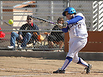 Western Nevada College's Jordan Garcia gets a hit against Colorado Northwestern on Friday, April 6, 2012, in Carson City, Nev..Photo by Cathleen Allison