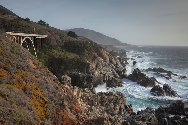 Garapata SP on Big Sur Hwy 1 just south of Carmel demonstrates the rugged coastline of the Big Sur area.