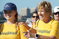 "Diana Nyad, four years after her record breaking swim of 110 miles from Cuba to Florida, in September 2017 lead over 100 people walking 132 miles from Copley Square Boston to Cape Elizabeth in Portland Maine. Then November 9th she disclosed having been sexually assaulted by her swimming coach at age 14 in a New York Times op ed "" My Life After Sexual Assault"" saying we need to construct an accurate archive of these abuses. And we need to prepare coming generations to speak up in the moment, rather than be coerced into years of mute helplessness."