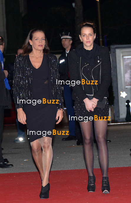 MONACO PRINCELY FAMILY / January, 22 2012 Princess Stephanie, daughter Pauline Ducruet, Prince Albert and Princess Charlene arrive at the 37th Monte-Carlo Circus Festival GALA.