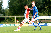 EMMEN - Voetbal, VV Emmen - FC Emmen, voorbereiding seizoen 2018-2019, 07-07-2018,  uithaal FC Emmen speler Luciano Slagveer