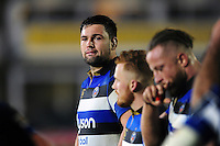 Elliott Stooke of Bath Rugby looks on after the match. Anglo-Welsh Cup match, between Bath Rugby and Leicester Tigers on November 4, 2016 at the Recreation Ground in Bath, England. Photo by: Patrick Khachfe / Onside Images