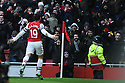 Santi Cazorla of Arsenal reacts after scoring for 2-0 during the  English Premier League soccer match between Arsenal and Aston Villa in London,UK, 23 February 2013.THOMAS CAMPEAN/Pixel8000 Ltd...