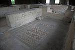 Floor mosaic, Chedworth Roman villa, near Cirencester, Gloucestershire, England