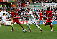 Swansea City FC (white) V Nottingham Forest (red) Championship play off semi final, second leg. Liberty Stadium Swansea 16/05/11<br />