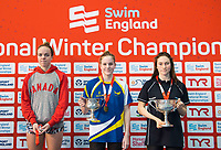 Picture by Allan McKenzie/SWpix.com - 16/12/2017 - Swimming - Swim England Nationals - Swim England Winter Championships - Ponds Forge International Sports Centre, Sheffield, England - Kierra Smith, Rebecca Clynes & Annabel Guye-Johnson with golds from the womens 100m breaststroke.