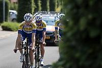 Sport Vlaanderen Baloise riders on a pre race recon. <br /> <br /> Baloise Belgium Tour 2018<br /> Stage 3: ITT Bornem - Bornem (10.6km)