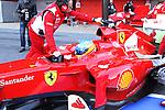 21.02.2012 Barcelona Spain. Formula One testind day1. Scuderia Ferrari with Spanish driver Fernando Alonso
