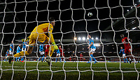 Liverpool's Dejan Lovren scores his side's equalising goal to make the score 1-1 <br /> <br /> Photographer Alex Dodd/CameraSport<br /> <br /> UEFA Champions League Group E - Liverpool v Napoli - Wednesday 27th November 2019 - Anfield - Liverpool<br />  <br /> World Copyright © 2018 CameraSport. All rights reserved. 43 Linden Ave. Countesthorpe. Leicester. England. LE8 5PG - Tel: +44 (0) 116 277 4147 - admin@camerasport.com - www.camerasport.com