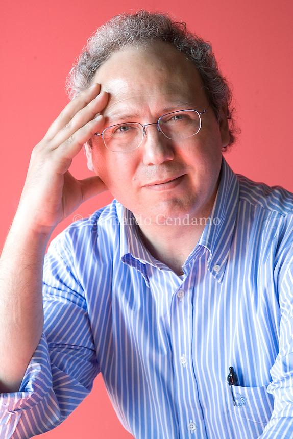 Torino, Italy, 2008. Roberto Mistretta, Sicilian journalist.