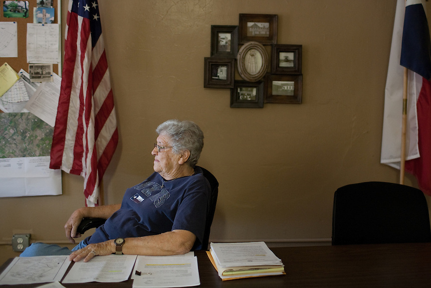 NORDHEIM, TX - SEPTEMBER 25, 2013: Katherine Payne, the mayor of Nordheim, Texas, sits in City Hall. CREDIT: Lance Rosenfield/Prime