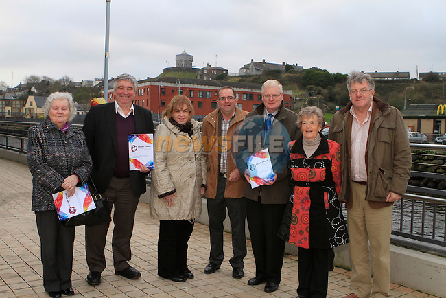 Sinead Nic Chraith, Eamonn Graham, Nelly Fisher and Tom Bourke from the Fleadh Cheoil na hEireann with Joan Martin, County Manager Louth Local Authorities, Pat Finn, Borough Engineer and Cllr. Frank Maher at the walking tour of Drogheda...Photo NEWSFILE/Jenny Matthews..(Photo credit should read Jenny Matthews/NEWSFILE)