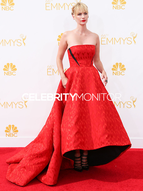 LOS ANGELES, CA, USA - AUGUST 25: Actress January Jones arrives at the 66th Annual Primetime Emmy Awards held at Nokia Theatre L.A. Live on August 25, 2014 in Los Angeles, California, United States. (Photo by Celebrity Monitor)